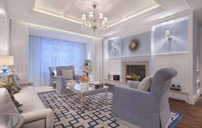 人鱼传说130平地中海风格的家装修案例实景图